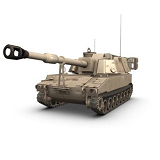 Howitzer, 155mm, Self-Propelled (M109)