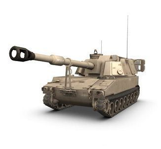 Howitzer,155mm,Self-Propelled (M109)